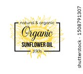 Natural Sunflower Oil Vector...