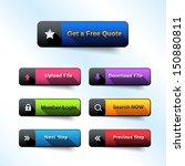 modern web buttons | Shutterstock .eps vector #150880811