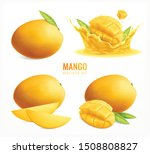 mango set with realistic... | Shutterstock .eps vector #1508808827