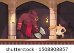 minotaur fabulous mythical... | Shutterstock .eps vector #1508808857