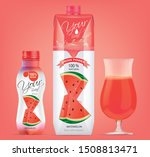 watermelon juice drink carton... | Shutterstock .eps vector #1508813471