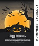 happy halloween background | Shutterstock .eps vector #150883775