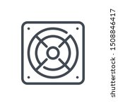 omputer power supply line icon....