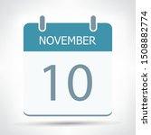 november 10   calendar icon  ... | Shutterstock .eps vector #1508882774