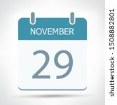 november 29   calendar icon  ... | Shutterstock .eps vector #1508882801
