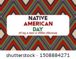 native american day is a... | Shutterstock .eps vector #1508884271