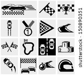 race vector icons set on gray | Shutterstock .eps vector #150890351