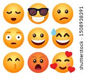 set of emoticon cartoon emojis... | Shutterstock .eps vector #1508938391