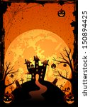 halloween night background with ... | Shutterstock .eps vector #150894425
