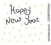 happy new year vector poster.... | Shutterstock .eps vector #1508950064