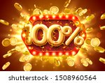 sale 100 off ballon number on... | Shutterstock .eps vector #1508960564