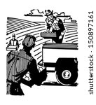 farm workers   retro clip art... | Shutterstock .eps vector #150897161