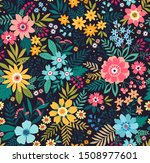 amazing seamless floral pattern ...   Shutterstock .eps vector #1508977601
