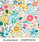 trendy seamless vector floral... | Shutterstock .eps vector #1508992031