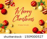 merry christmas greeting card... | Shutterstock .eps vector #1509000527