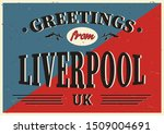 vintage touristic greeting card ... | Shutterstock .eps vector #1509004691