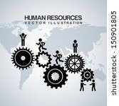 human resources over gray... | Shutterstock .eps vector #150901805