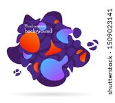 fluid organic colorful shapes.... | Shutterstock .eps vector #1509023141