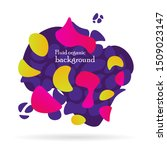 fluid organic colorful shapes.... | Shutterstock .eps vector #1509023147