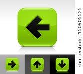 arrow icon set. green color...