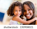 happy portrait of a mother and... | Shutterstock . vector #150908021