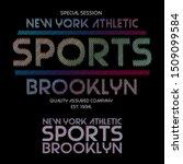 sports logo textile print tee... | Shutterstock .eps vector #1509099584