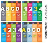 set of numbered banners. four... | Shutterstock .eps vector #150911021