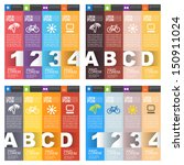 set of numbered banners. four... | Shutterstock .eps vector #150911024