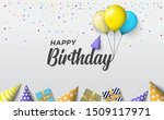 happy birthday background. with ... | Shutterstock .eps vector #1509117971