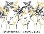 double columbine flowers.... | Shutterstock .eps vector #1509121151