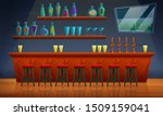 interior of a pub with chairs... | Shutterstock .eps vector #1509159041