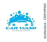 car wash logo template designs. ... | Shutterstock .eps vector #1509199964