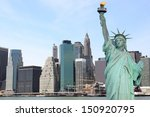 manhattan skyline and the... | Shutterstock . vector #150920795
