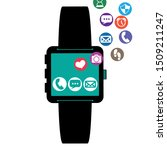smartwatch technology with apps ... | Shutterstock .eps vector #1509211247