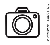photographic camera isolated... | Shutterstock .eps vector #1509211637