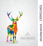 trendy christmas colorful... | Shutterstock .eps vector #150921401