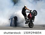 Two Motorbikes Burn Wheels On ...