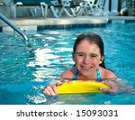 a girl smiles as she swims in... | Shutterstock . vector #15093031