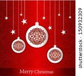 christmas greeting card | Shutterstock .eps vector #150932309
