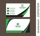 modern business card template ... | Shutterstock .eps vector #1509337634