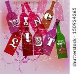 wine list menu card design ... | Shutterstock .eps vector #150934265