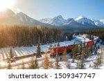 red cargo train passing through ... | Shutterstock . vector #1509347747