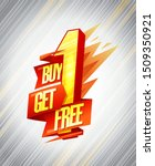 buy one get one free sale...   Shutterstock .eps vector #1509350921