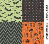 vector set of four halloween...   Shutterstock .eps vector #150935555