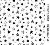 doodle stars pattern. seamless...