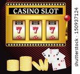 lucky seven casino slot machine   Shutterstock .eps vector #150937124
