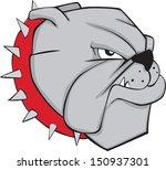 aggression,anger,animal,black,bull dog,bull dogs,bulldog,canine,cartoon,collar,cruel,danger,dog,doggy,eyes