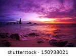 vibrant colorful sunset over... | Shutterstock . vector #150938021