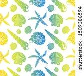 cone shells  snail shells ...   Shutterstock .eps vector #1509386594