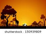 illustration of giraffe and... | Shutterstock .eps vector #150939809